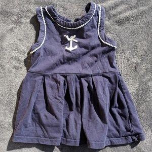 ♦️ BOGO 50% Off♦️Baby dress, navy blue w/⚓